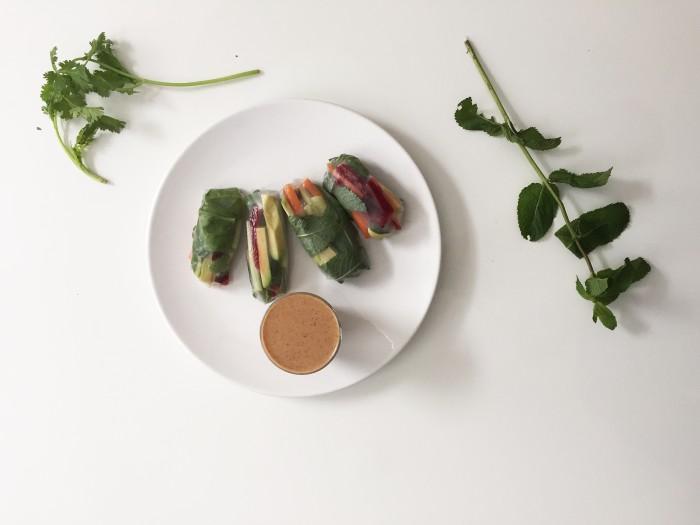 recipe, radishtowear, rainbow spring rolls