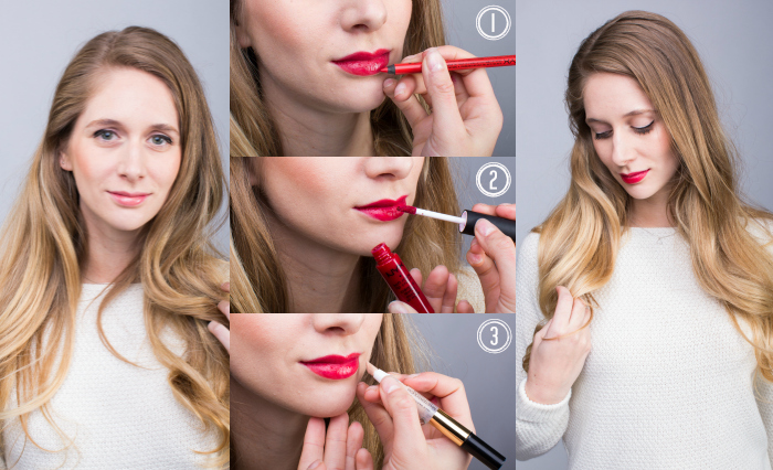 perfect red lips tutorial